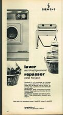 N- Publicité Advertising 1965 La machine à laver à repasser Siemens