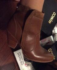 Mimco Brand New $299  Leather Boots Heels Wedges Shoes  38 Or 7 Heel 10 Cm