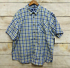 Rocawear Shirt Mens Size 2XB Blue Yellow & White Plaid Button Front New