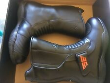 Brand New TORQUE Black Leather Motorcycle Boots Unisex Size 7