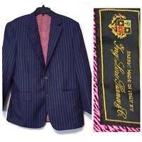 $2300 Ing Loro Piana Italy Men's Sport Wool Blazer Striped Blue Size IT 52 US L