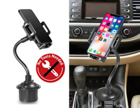 Phone Car Cup Holder Mount Adjustable Gooseneck for Galaxy A51,S21 Ultra,S21+A71