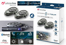 Cellularline interphone tour interphone twin pack universal casque modulaire