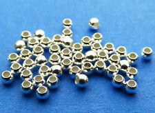 1.8mm 925 Sterling Silver Round Seamless Spacer Beads 50pcs.