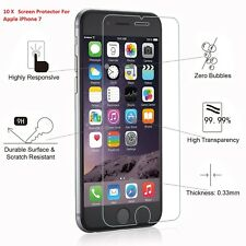 10X  100% Genuine Tempered Glass  Screen Protector For Apple iPhone 7 - NEW 10PC