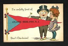 """L39  Atlantic Highlands """"Pennant"""" Artist Cobb Shinn Don""""t You  Know Characters"""