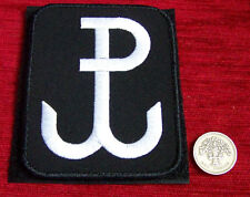 "Polish ARMY PATCH worn on arm ANCHOR special force GROM ""PW - Polish Fighting"" b"