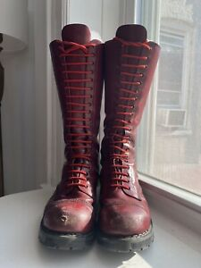 Made in England UK Grinders 20 Eye Oxblood Steel Toe Boot Skinhead Punk Oi 11