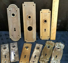 Vintage Lot of 9 Door Knob Back Plates Art Nouveau Victorian Art Deco
