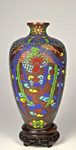 FINE VERY OLD EARLY JAPANESE CLOISONNE MORIAGE VASE
