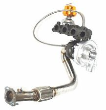 Turbocharger+Manifold+Downpipe+Adj.Wastegate fit 88-91 Honda CRX D15D16 T3/T4