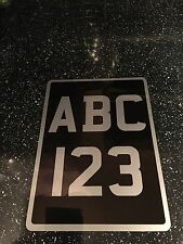 8x11 Classic Black And Silver Number Plate Vintage Truck Tractor Or Trailer