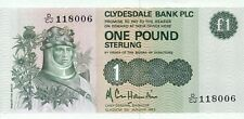 Scotland Clydesdale Bank P-211b 1 pound 1983 UNC