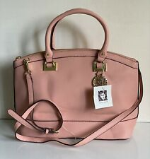 NEW! ANNE KLEIN NEW RECRUITS PEONY PINK CONVERTIBLE DOME SATCHEL CROSSBODY BAG