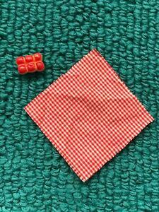 Vintage Barbie #0880 LITTLE RED RIDING HOOD Wax ROLLS & NAPKIN LINER (1964)