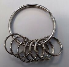 EXTRA LARGE STRONG 58mm NICKEL PLATED SPLIT KEY RINGS LOOP KEYRING METAL O RING