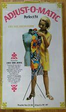 Vtg Perfect Fit Adjust O Matic Dress Form Cardboard Mannequin Sewing Tailor Nib