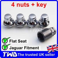 4x ALLOY WHEEL LOCKING NUTS FOR JAGUAR S-TYPE / X-TYPE CHROME LUG BOLTS [0Lb]