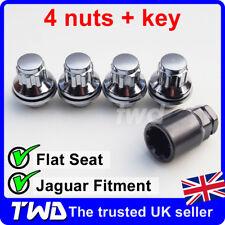 4x ALLOY WHEEL LOCKING NUTS - JAGUAR (M12x1.5) OE-FIT CHROME LUG BOLTS JAG [0Lb]