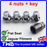 4x ALLOY WHEEL LOCKING NUTS FOR JAGUAR S-TYPE / X-TYPE CHROME LUG BOLTS [0Lb]