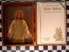 White KJV Faux Leather Bible Memorial Edition with Concordance and Subject Index