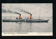 Shipping IOM EMPRESS QUEEN Royal Mail Steamer pre1919 PPC local pub Hough
