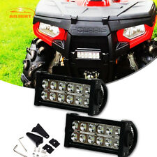 "Pair 36W 6-7"" LED Light Bar Spot Fog Lamps For ATV UTV Dirt Bike Handlebar Mount"