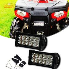 """Pair 36W 6-7"""" LED Light Bar Spot Fog Lamps For ATV UTV Dirt Bike Handlebar Mount"""