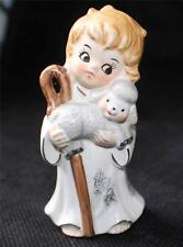 "Vintage Josef Originals Japan Shepherd Boy w Lamb on Hand 4 1/2""h Figurine"