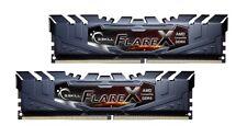 16GB G.Skill Flare X DDR4 2400MHz PC4-19200 for AMD Ryzen CL15 Dual Kit 2x8GB