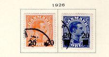 Denmark - Full 1926 Surcharged set. Scott #176-177 Used