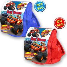 Blaze personalizada y la mochila escolar bolsa de los niños Monster máquinas Vivero