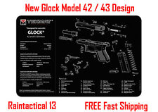 """New Glock 43 Tek Mat Armorers Gun Cleaning Bench Mat 11""""X17"""""""