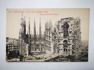 Barcelona Spain Construction of the Sagrada Familia Interior Postcard, S77613