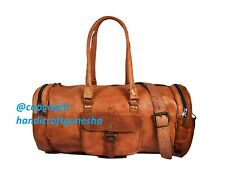 Leather Duffle Weekend Overnight Travel Gym Bag Holdall Luggage Holiday Bag