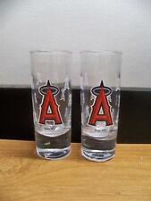 2 NEW GENUINE MLB LA LOS ANGELES ANGELS 2.5 OZ HYPE SHOOTER SHOT GLASS FREE S&H