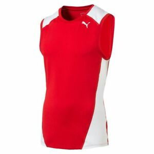 Puma Mens Sports Running Tank Vest Sleeveless Top Jogging Workout Fitness
