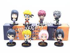 Naruto Shippuden Set 8pcs Sasuke Sakura Kakashi Hinata Gaara Itachi Minato Toy