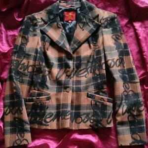 Vivienne Westwood RED LABEL Auth Vintage Plaid Jacket Size 40 Used from Japan