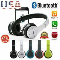 ❤ Wireless bluetooth Headphones Foldable Stereo Earphones Super Bass Headset Mic