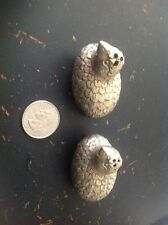 metallic set of quail/chick/bird salt and pepper Shaker set