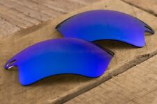 Blue Sapphire Iridium Polarized Mirror Sunglass Lenses for Oakley Fast Jacket XL