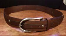 Stud Strip Belt Ben Sherman Brown  Sz 36 New