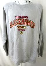 Chicago Blackhawks Mens 2X-Large Screened Fleece Crew Sweatshirt ACHW 29
