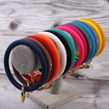Large Silicon Loop Wrist Keychain Fashion Arm Bracelet Bangle Jewelry Accessory