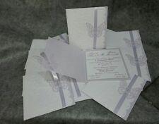 partecipazioni MATRIMONIO INVITO FARFALLA ELEGANTE personalizzabile- nozze