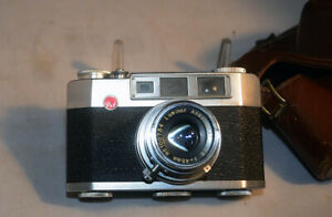 Pax M4 Vintage 35mm RF Film Camera 45mm 1:2.8 w/ Case - Repair fires - needs TLC