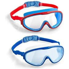 New listing Elimoons Kids Swim Goggles, 2-Pack Wide Vision Swimming Glasses For Children And