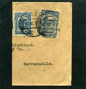 LA NAVIERA COLOMBIANA, frag Cover BOGOTA 17 X 1924 'SERVICIO POSTAL