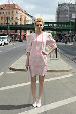 Valentina of London donna abito dress rosa rosa 40 80er 80s True Vintage Women